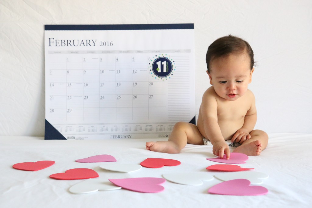 February baby monthly calendar // sincerely kymberly