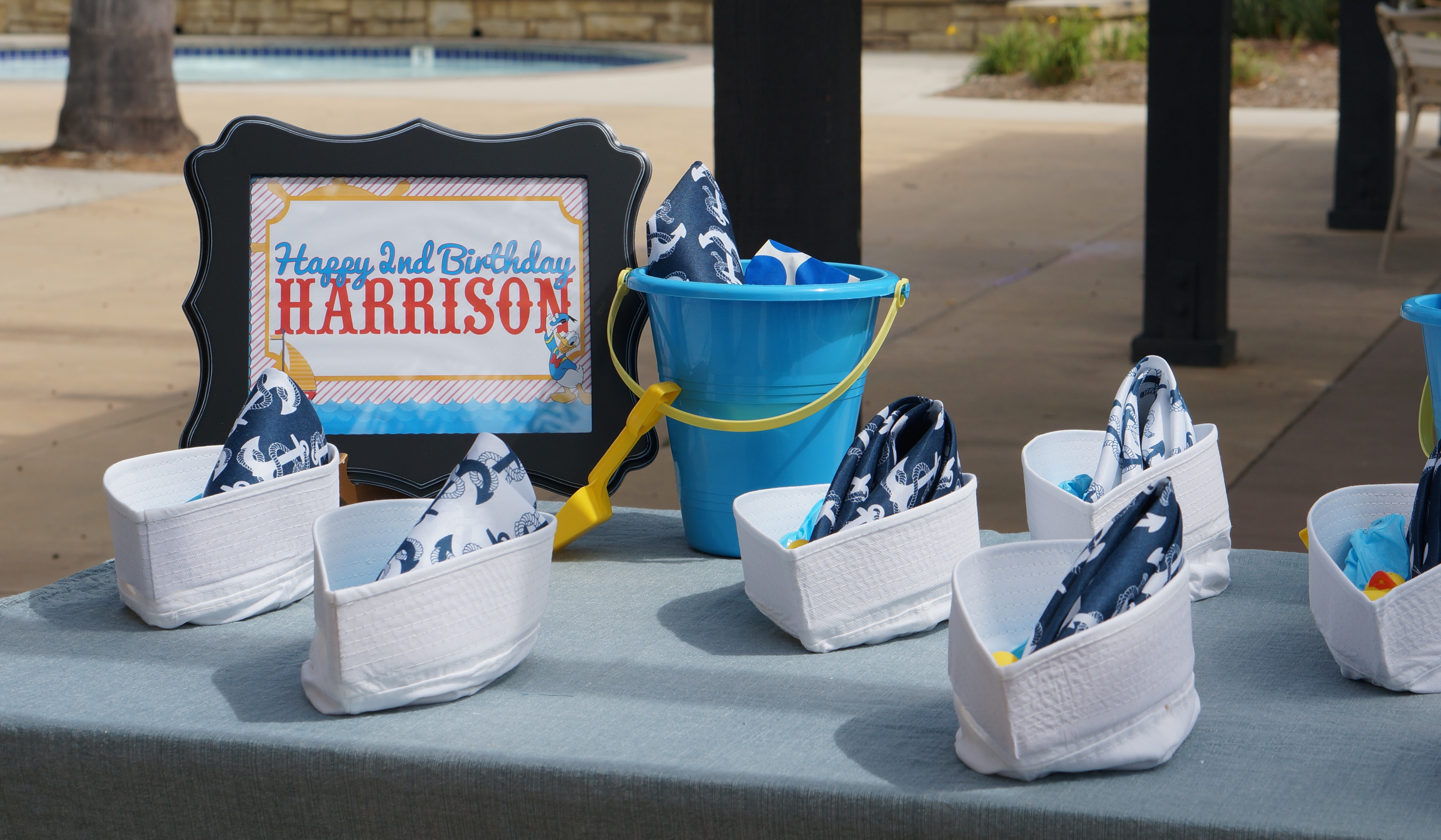& Donald Duck Nautical themed birthday party // party favors