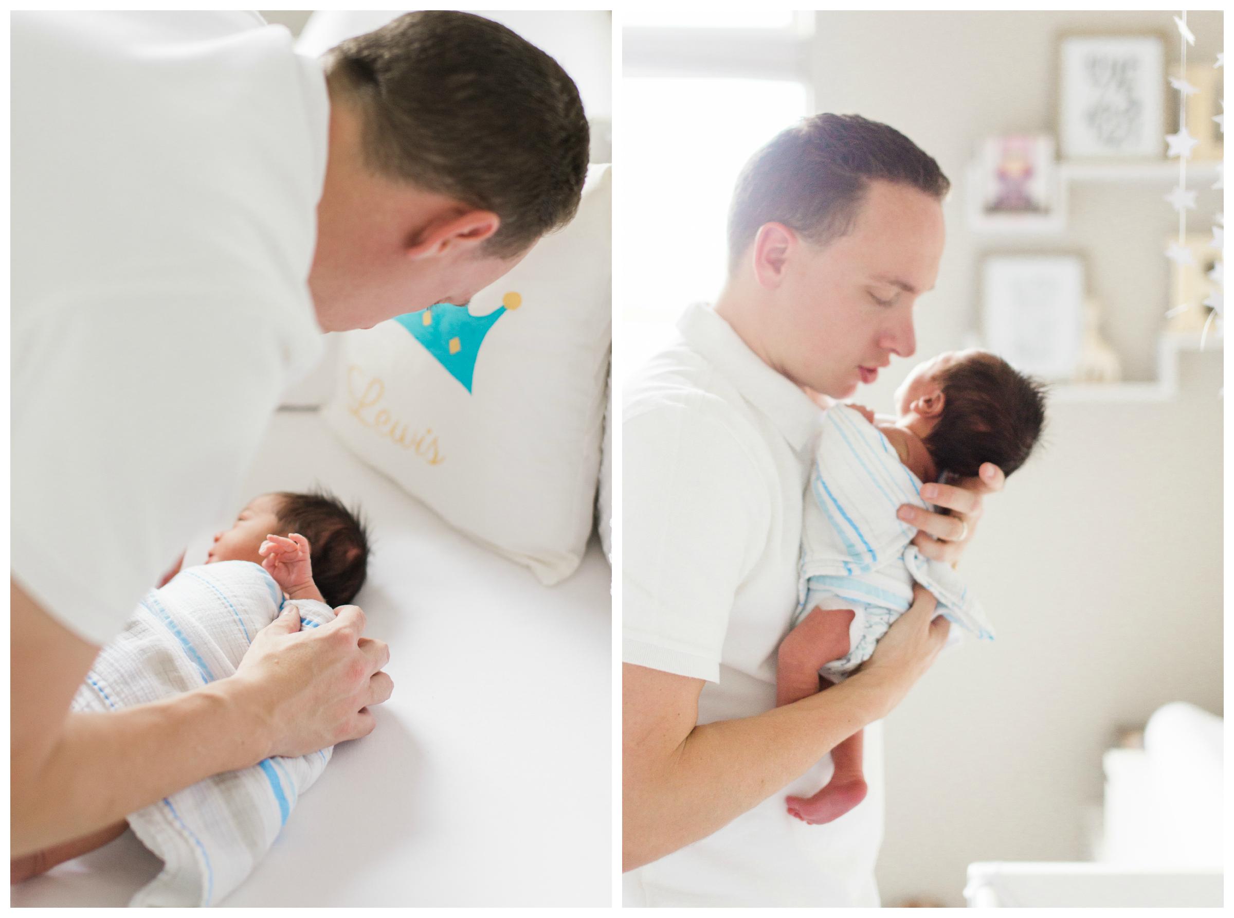 greatromancephoto-newborn son with dad