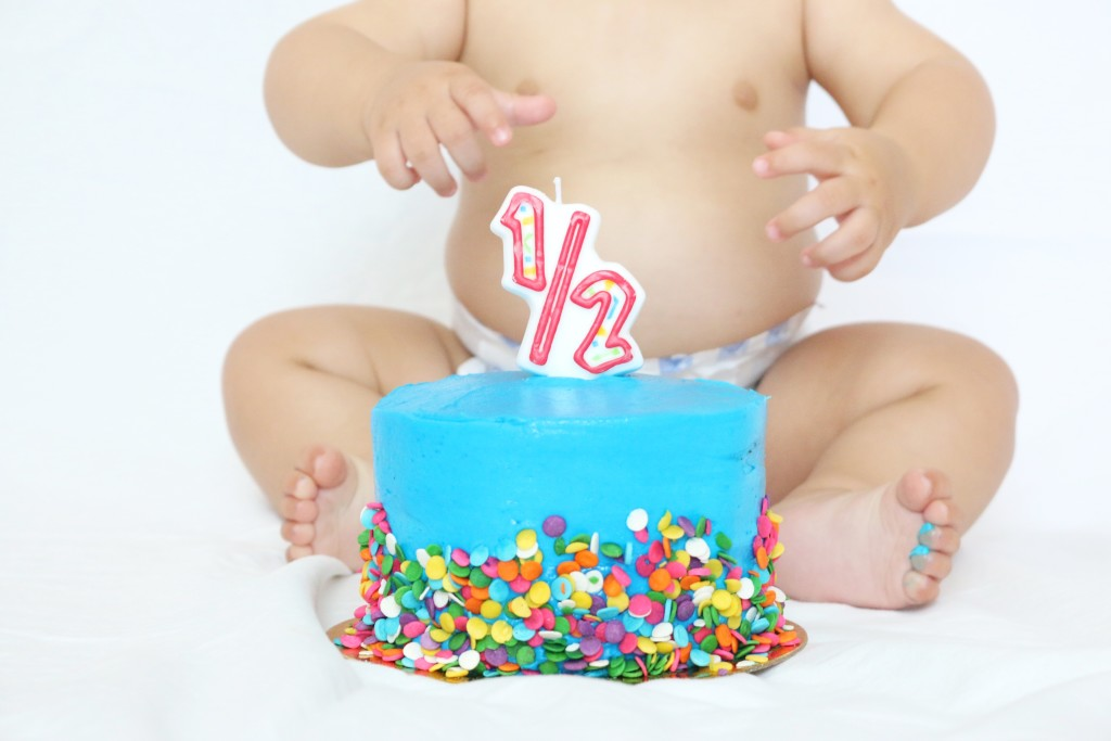 6 month baby birthday cake