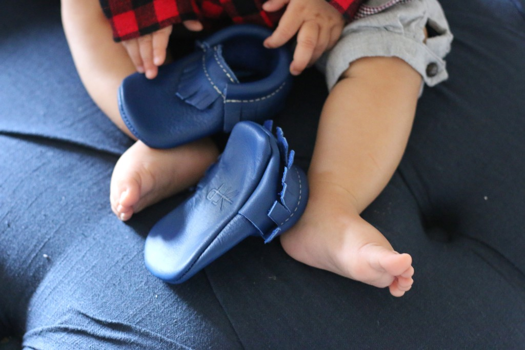 Prince George blue baby shoes