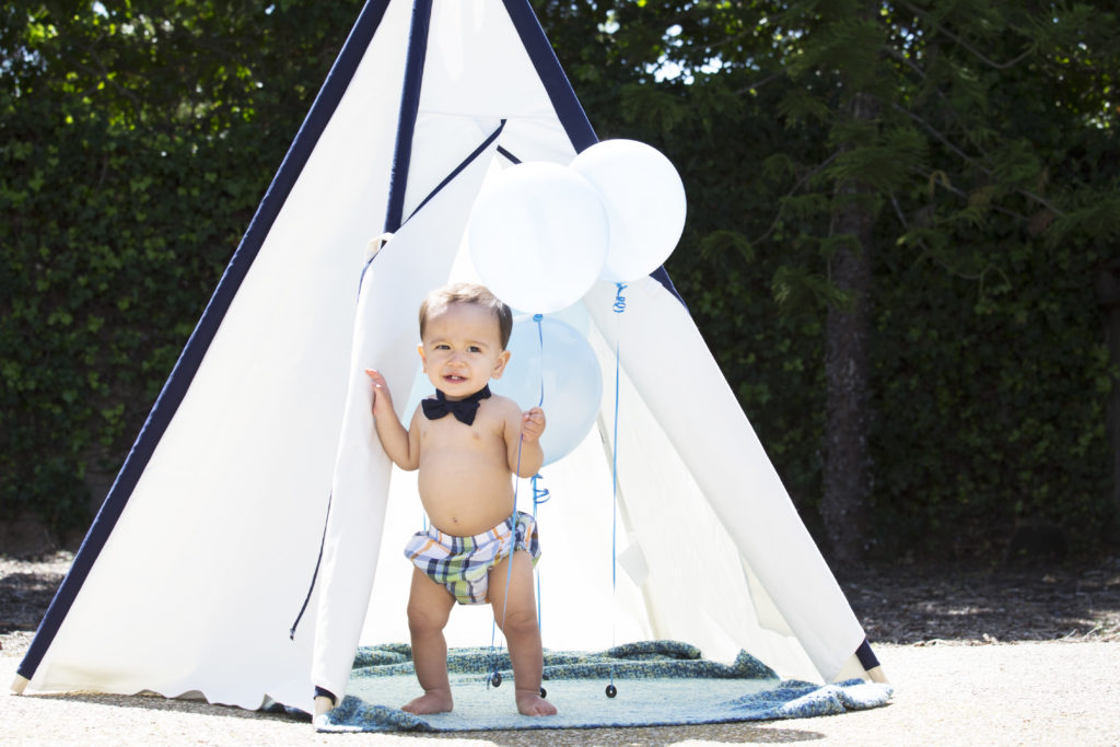 baby first birthday // tent